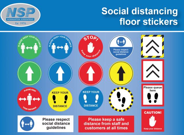 COVID-19 Floor Stickers